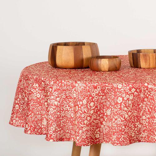 Mantel Básico Estampado Poliéster Rojo 150 x 210 cm