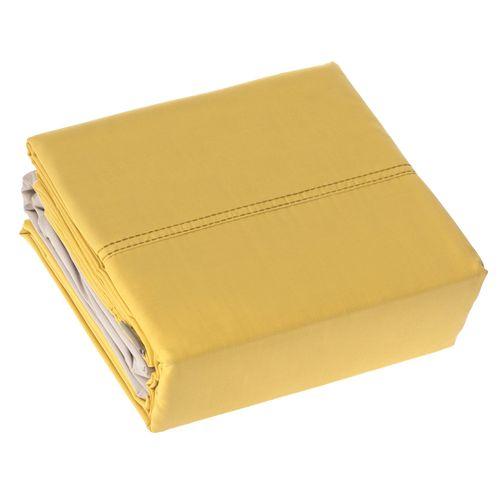 Set Set Sábanas Concepto Color Amarillo Sencillo
