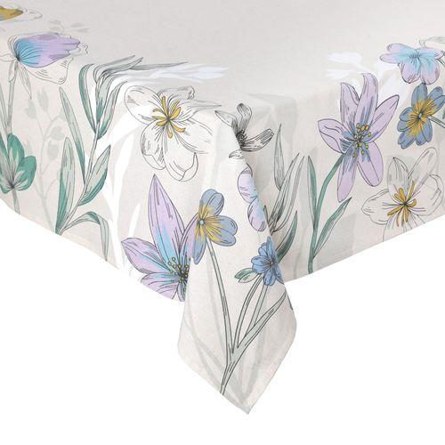 Mantel Panel Diseño Lila Algodón-Lino 170 x 280 cm