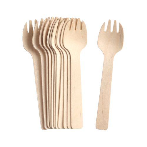 Set Mini Tenedores Madera