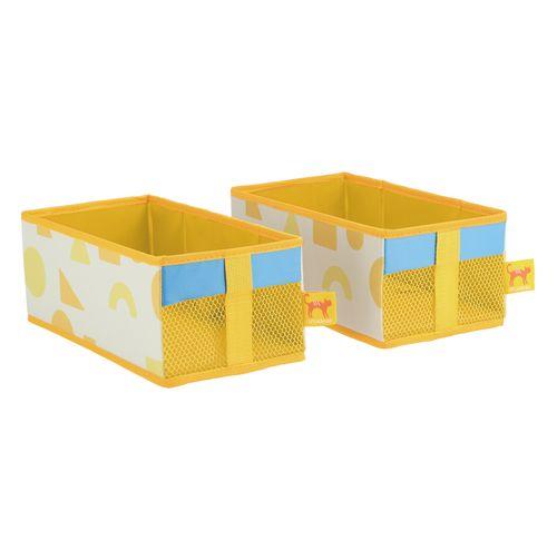 Set 2 Organizador Caja Tela 14x28x11 cm