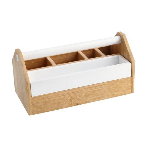 Caja Separadora Bambú-MDF 25,5x12,7x13 cm