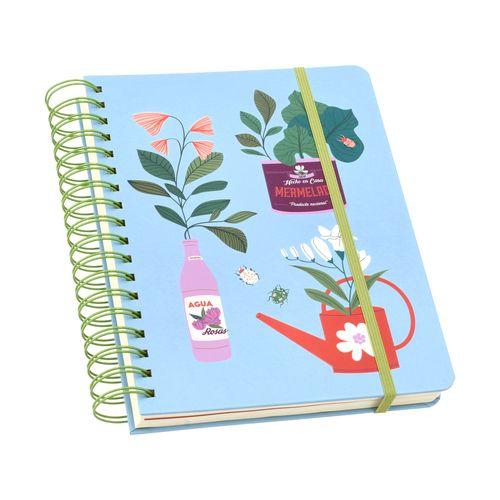 Cuaderno 1/2 Oficio 160 Hojas con Líneas-Cuadros 18x24 cm