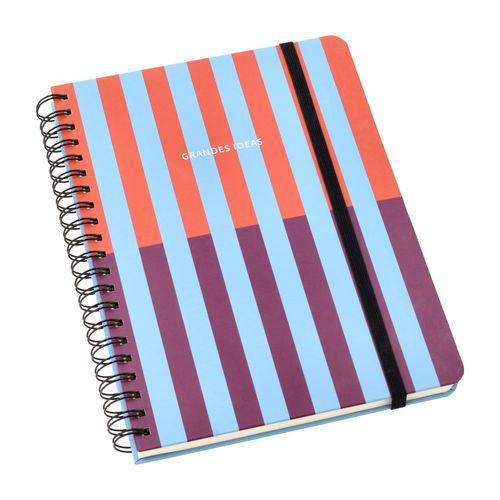 Cuaderno Universitario 140 Hojas con Líneas-Cuadros 20x27,5 cm