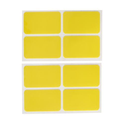 Set 8 Etiquetas Autoadhesivas Removibles Reutilizables 7x4 cm