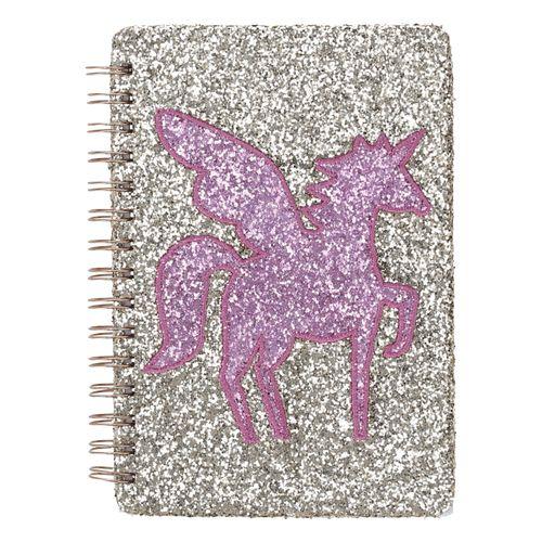 Cuaderno Glitter Cartón, Papel, Poliester 14,5x21 cm