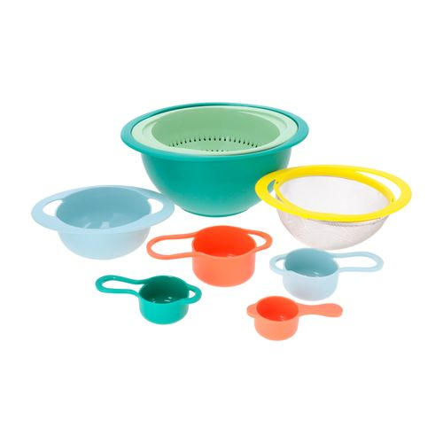 Set 8 Bowls Medidas Colador Acero
