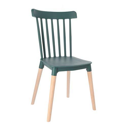 Silla con patas de madera PP 50x46x84 cm