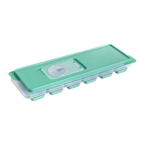 Cubeta de Hielo con base de silicona y tapa plástica 9,5x26x3,8 cm