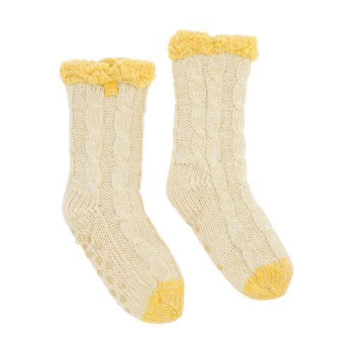 Calcetín Tejidas Amarillas