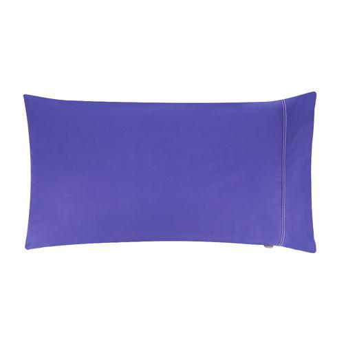 Funda Almohada Liso 144 Hilos Color Azul Violeta 50 x 90 cm