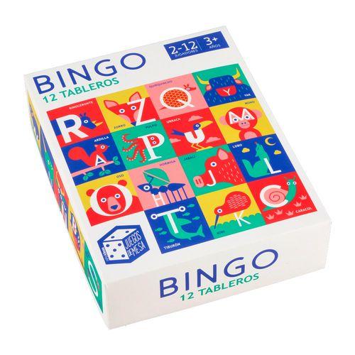 Juego Bingo 12 Tableros de Cartón