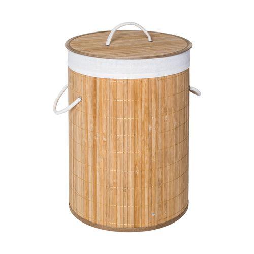 Canasto Ropa Redondo con Forro Bambú