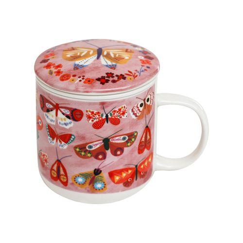 Mug Con Infusor Cerámica 380 ml