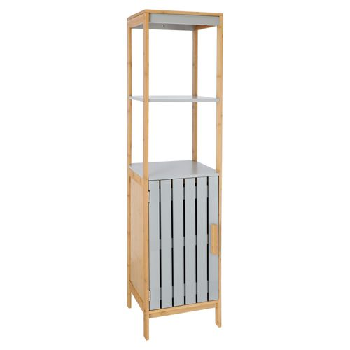 Mueble Alto puerta MDF y Madera Bambú 30x30x129 cm