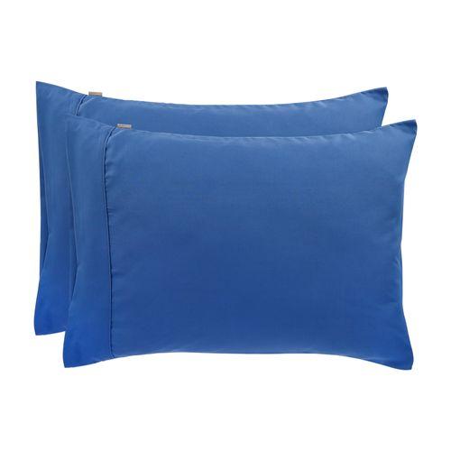 Set 2 Fundas Almohada Concepto Color Azulino Diseño 3 Microfibra