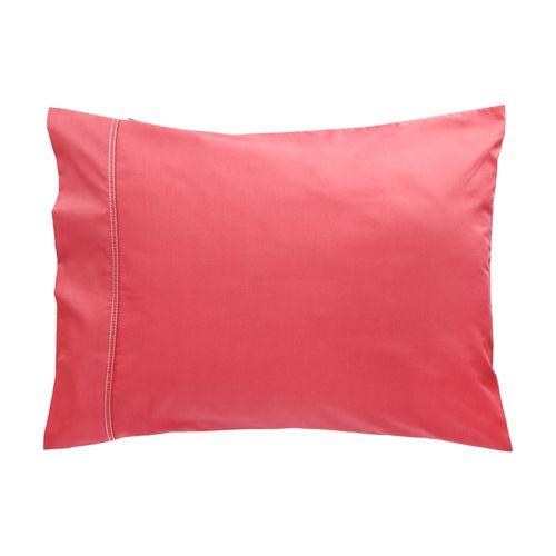 Funda Almohada 144 Hilos Concepto Liso Rojo Diseño 111