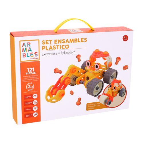 Set 2 Vehículos Armables Plástico